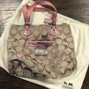 Auth COACH K1082-16289 tote bag canvas - like new